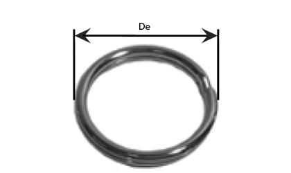 Teknisk tegning - Nøkkelringe  - Galvaniserte