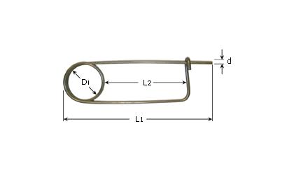 Teknisk tegning - Låsesplinter - Rustfritt