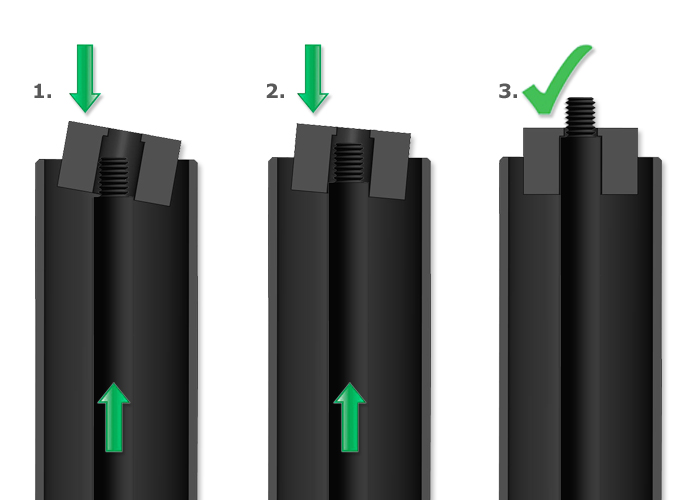 How to mount a locking tube