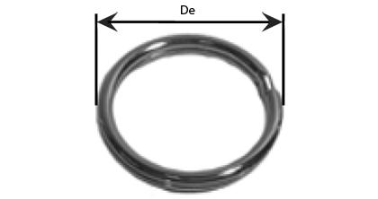 Technical drawing - Splits - key rings